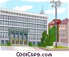 Vector Clipart graphic  of a Slovenia Parliament Building