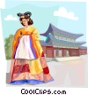 Traditional Korean clothing Choson Dynasty Vector Clip Art image