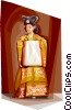 Vector Clip Art picture  of a Traditional Korean clothing