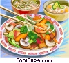 Vector Clip Art picture  of a Chinese Food