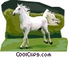 Vector Clipart graphic  of a Lipicanec Lipizzan horse