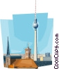 Berlin tower Germany Vector Clipart graphic