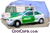 Germany Berlin police patrol Vector Clip Art graphic