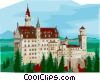 Vector Clipart illustration  of a Neuschwanstein Castle