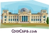 Germany Berlin Reichstag Vector Clip Art image