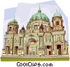 Germany Berliner Dom Berlin Cathedral Vector Clip Art image