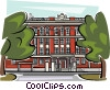Vector Clipart image  of a School Buildings