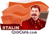 Vector Clip Art image  of a Joseph Stalin