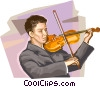 Violinists Vector Clipart picture