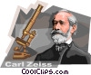German Innovator Carl Zeiss Vector Clip Art graphic