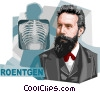 German physicist Wilhelm Conrad R�ntgen Vector Clipart picture