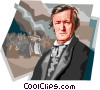 Vector Clip Art picture  of a German Composer Wilhelm