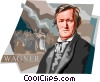 German Composer Wilhelm Richard Wagner Vector Clip Art graphic