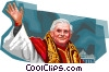 Pope Benedict XVI Vector Clip Art graphic