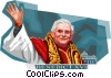 Vector Clipart image  of a Pope Benedict XVI