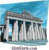 Vector Clip Art graphic  of a Germany Berlin Brandenburg Gate