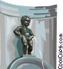 Manneken Pis Brussels Belgium Vector Clip Art picture