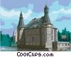 Vector Clip Art picture  of a Ch�teau de Jehay Li�ge Belgium