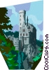 Germany Baden-Wuerttemberg castle Vector Clip Art picture
