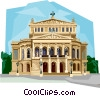 Vector Clip Art graphic  of a Germany Frankfurt Opera House