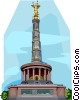 Vector Clipart graphic  of a Germany Victory Column