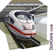Vector Clip Art picture  of a Brussels high speed train