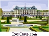 Park and Royal Residence of Drottningholm Palace Vector Clip Art graphic