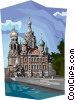 Russia Cathedral of Our Savior on the Spilled Blood Vector Clipart graphic