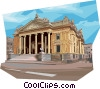 Vector Clip Art graphic  of a Bourse de Bruxelles