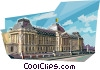 Vector Clipart graphic  of a Royal Palace Brussels, Belgium