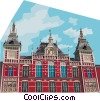 Central Station in Amsterdam, Holland Vector Clipart picture