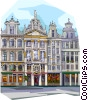 Grand Place, Brussels, Belgium Vector Clipart illustration