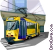 Street car transportation in Brussels, Belgium Vector Clipart picture