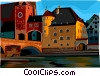 Regensburg, Germany Vector Clip Art graphic