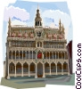 The Hotel_de_Ville, Belgium Vector Clipart picture