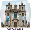 Vector Clipart graphic  of a Sao Ildefonso Church