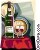 Vector Clip Art image  of a Portugal Port wine