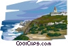 Portugal Cabo da Roca sea coast Vector Clip Art picture