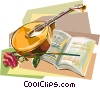 Portugal fado instrument with sheet music Vector Clipart image