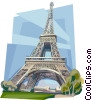 Vector Clipart picture  of a Paris France Eiffel tower