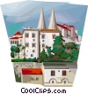 Vector Clip Art picture  of a Portugal Sintra's palace