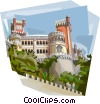 Vector Clipart graphic  of a Portugal Sintra Pena Palace