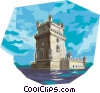 Portugal Belem tower Vector Clipart illustration