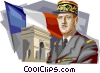 Vector Clipart graphic  of a French President Charles de