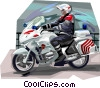 Vector Clipart illustration  of a French police militarie