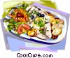 Vector Clipart picture  of a Portuguese cuisine Codfish meal