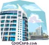 Portugal River banks in  Expo 98 area Vector Clipart illustration