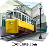 Vector Clipart image  of a Portugal vertical tram