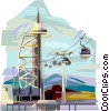 Vector Clip Art image  of a Portugal Lisbon Expo 98 tower