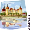 Germany Moritzburg Dresden Vector Clipart illustration